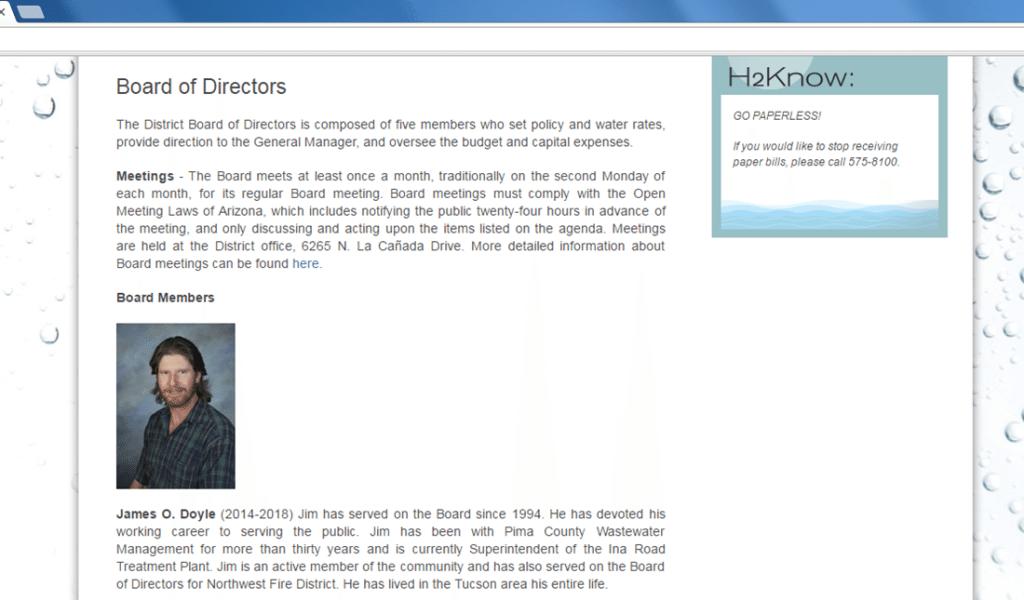 James Doyle - Tucson Metro Water Board Member